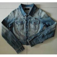 100% Cotton Stone Wash Long Sleeve Ladies Denim Jacket