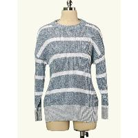 Fall Discount Oversize Frocks Design Women Recycle Cotton Crew Neck 12 G Pre-Twisted Pullover Sweater