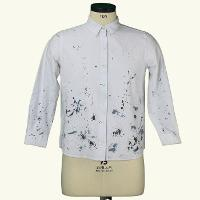 Spring 100% Cotton Slim Fit Long Sleeve Woven Print Pattern Casual Shirt