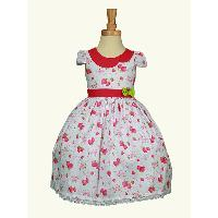 Summer Germany Popular Fancy Girl Pure Cotton Party Dress
