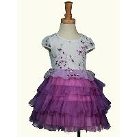 New!! Premium Fashion Design Puffy Layers Kids Pure Cotton Princess Dress