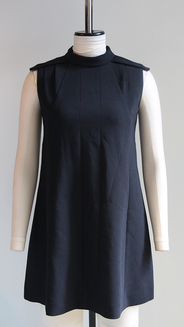 Mock Neck Woven Dress