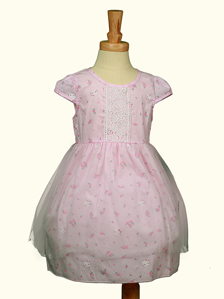New!! Wholesales Outdoor Puffy Layers Kids Pure Cotton Party Dress
