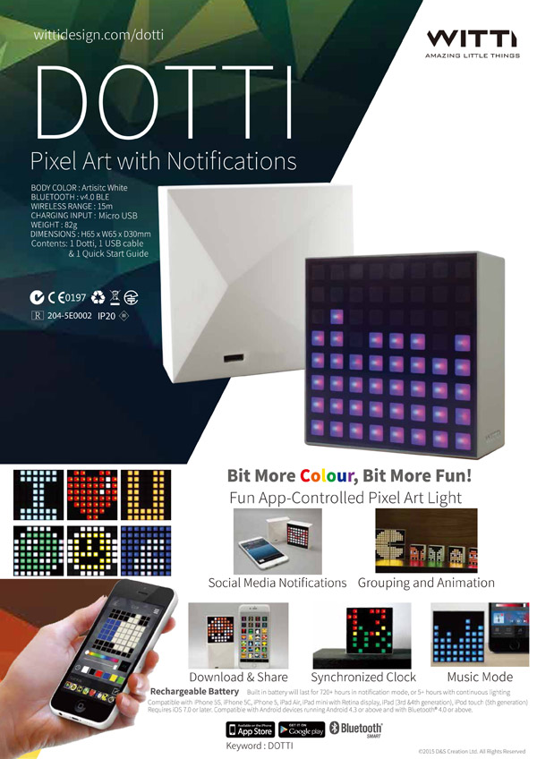 Pixel Art with Notification,DOTTI - D & S Creation Limited
