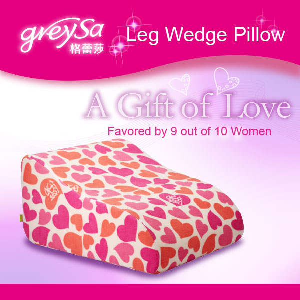 Leg Wedge Pillow-heart Fleece