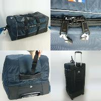 Nylon Navy And Black Padded Handles 850 Traveler Duffel Roller Bag