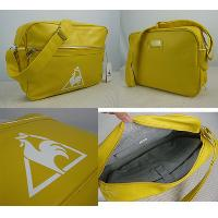 PU Yellow Nylon Zipper Top Closure Adjustable Shoulder Strap Bag / Briefcase / Reporter