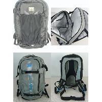 35L Polyester Grey With Waistband Padded Shoulder Straps Backpack