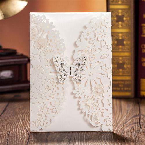 Laser Cut Wedding Invitation Card Lrz Greeting Card 01 New