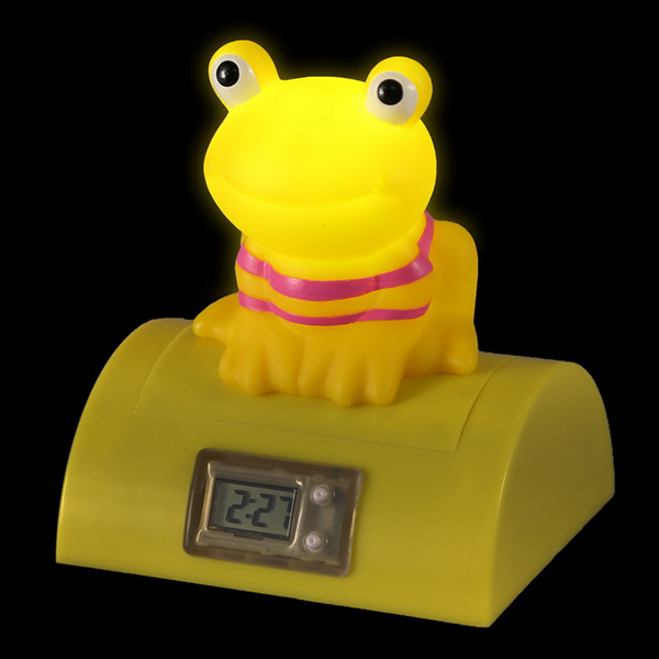 Frog Digital Clock Press Light