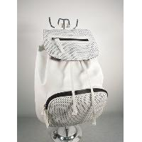 Perforated PU backpack