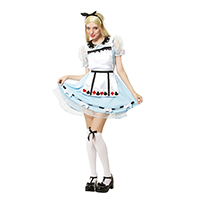 Adult Alice in Wonderland (Dress + Headband)