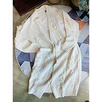 Fancy Knit Long Cardigan