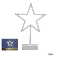 20 LED CHRISTMAS STAR STANDING LIGHT