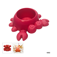 S/4 PLASTIC DRINK HOLDER (CRAB)