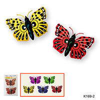 S/2 PLASTIC GARDEN DECORATIVE BUTTERFLY