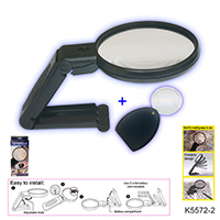 MAGNIFYING GLASS W/LIGHT & MINI MAGNIFIER