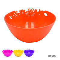 FLOWER DESIGN SALAD BOWL