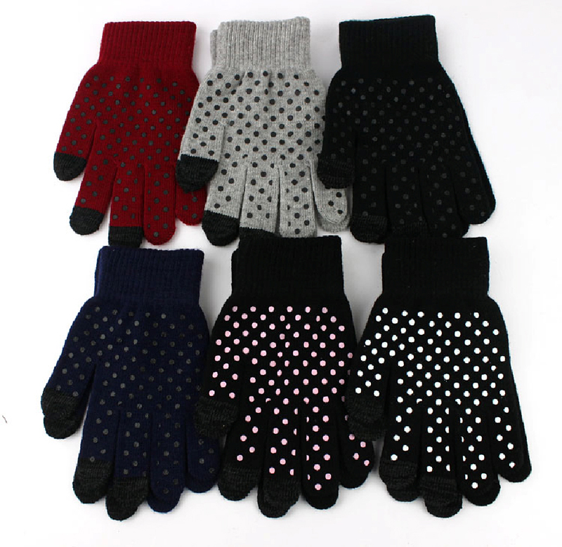 Dot Print Touch Gloves