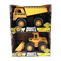Mighty Wheels 7 inches Dump Truck and Front Loader Assortment, 60310