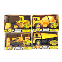 Mighty Wheels 4.75 inches Dump Truck, Front Loader, Bulldozer and Cement Mixer Assortment