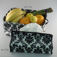 Laminated Cotton Canvas Storage Tray, Laminated Cotton Canvas Tissue Case Cover