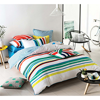 100% Cotton Yarn Dyed Ottoman Stripe Duvet Cover Set
