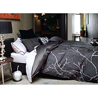 Yarn Dyed Jacquard Cotton Rayon Duvet Cover Set