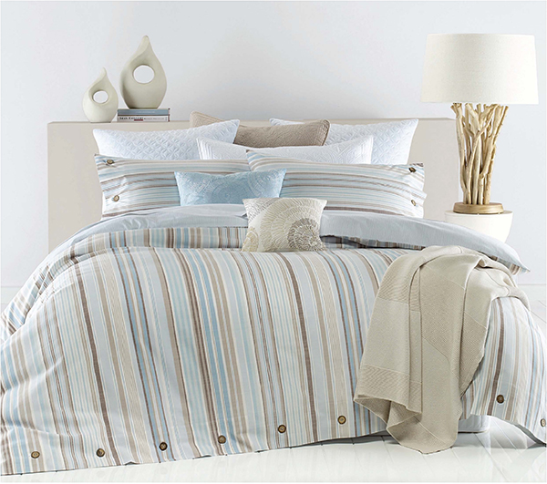 100% Cotton Yarn Dyed Slub Jacquard Duvet Cover Set