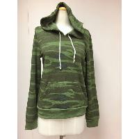 Ladies Printed Fleece Hoodie