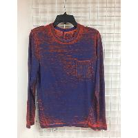 Rayon Poly Knitted Mens Pullover with Heavy Distressed Finishing