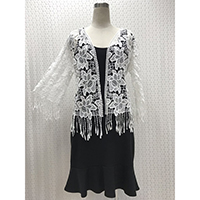 Outer Lace Short Cloth, 3/4 Sleeve