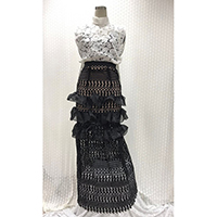 Set of Lace Blouse + Long Dress