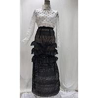 Set of Lace Top Blouse + Long Dress