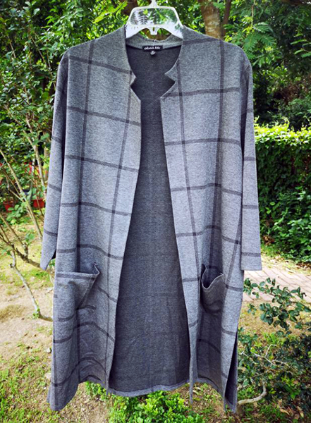 35 inches 3/4 Sleeve Duster with 2 Pockets