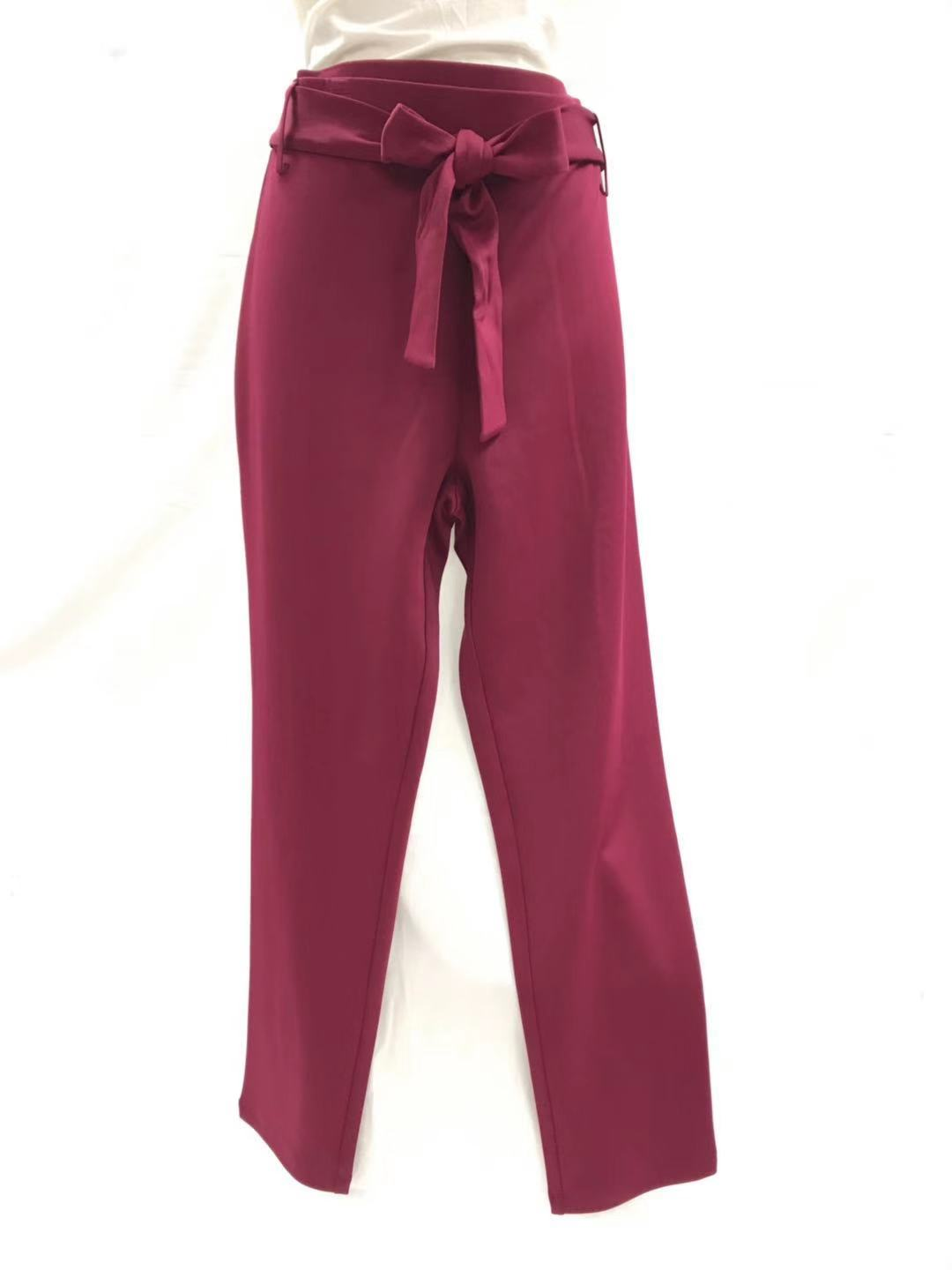 LONG PANTS LEGGING WITH TIE, **WITH SIDE SEAM ** HALF FRONT TIE