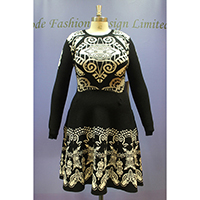Ladies Knitted Jacquard Dress