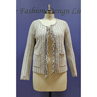 Ladies Knitted Cardigan (Inlay Knitted)