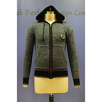 Men's Knitted Zipper Cardigan with Hood