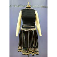 Ladies Knitted Vest & Dress (Inlay)