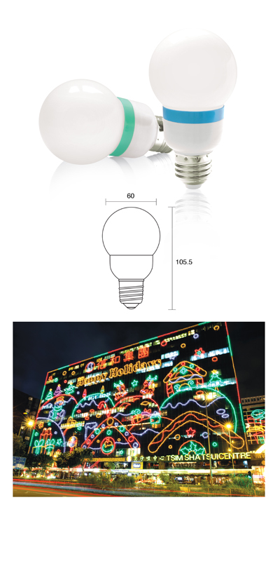LED Color Light Bulb