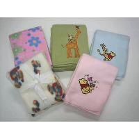 100% Polyester Printed & Embroidery Baby Fleece Throw