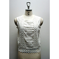 Ladies' Nylon Lace Knitted T-Shirt, BE18-8318