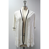 Ladies' Linen/ Cotton Knitted Jacket