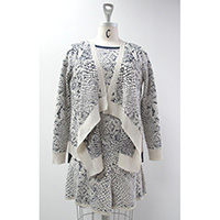 Ladies' Acrylic/ Wool/ Nylon/ Polyester Knitted Jacket
