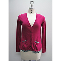 Ladies' Cashmere/ Angora/ Cotton/ Wool/ Viscose/ Nylon Knitted Cardigan