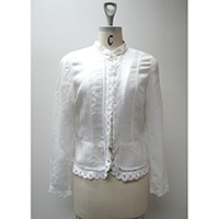 Ladies' Linen/ Cotton Woven Blouse, BE18-8372