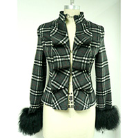 Ladies' Wool Mixed Woven Jacket