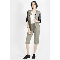 T-1906022-1 Jacket: Viscose Mixed Army Light Jacket, T-1906022-2 Tencel Capri
