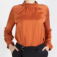 Polyester Blouse with Raglan Sleeves